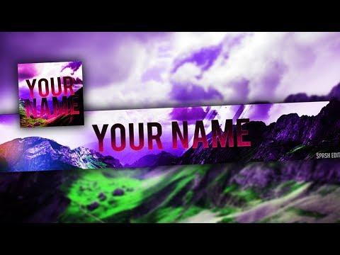 Youtube Banner And Avatar Template 2018 |Photoshop CS6 & CC|