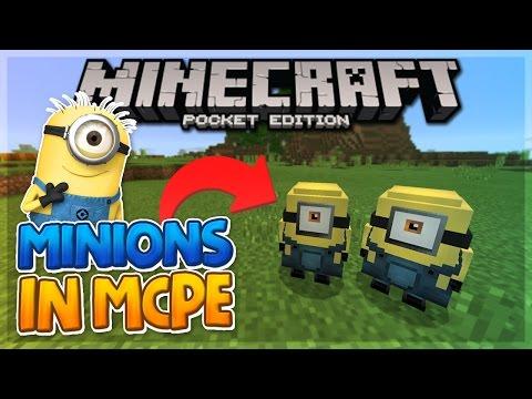 MINIONS IN MCPE! - Minion Addon Review - Minecraft PE (Pocket Edition)