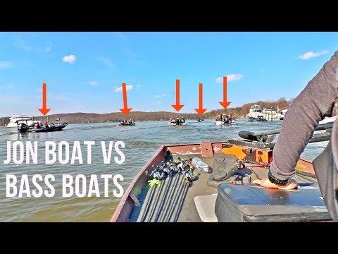 My Jon Boat VS. BIG Bass Boats || How'd We Do?! || Wednesday Night Bass Fishing Tournament!!