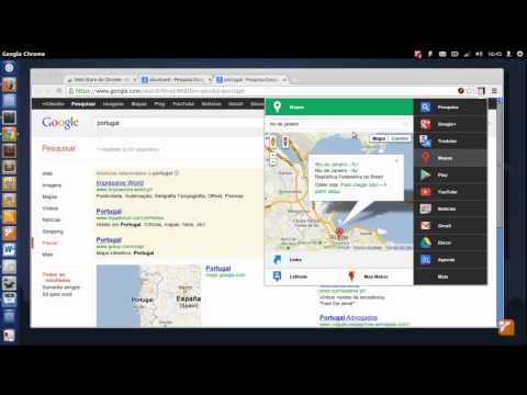 Black Menu: All Google services in Google Chrome.