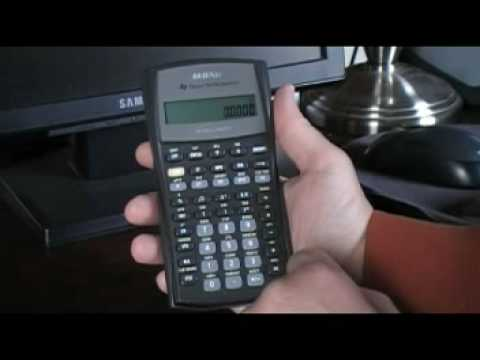 Time value of money calculations using the TI BAII Plus calculator - part 1