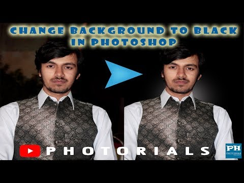 How to add black background in Photoshop