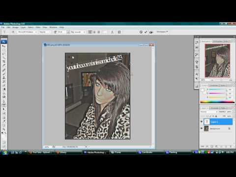 How to make a clear text on photoshop or photoshop cs3