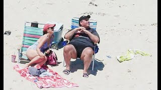 chris christie needed the whole beach for himself