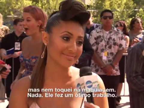 Francia Raisa conta sobre seu make para o Teen Choice 2012!