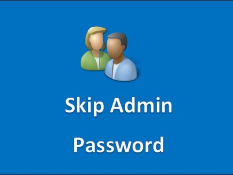 Windows 8 - How to Bypass the Administrator Password
