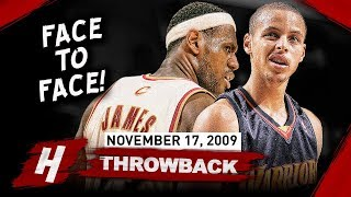 The Game LeBron James Met Stephen Curry for the FIRST TIME EVER 2009.11.17 - CRAZY Duel!