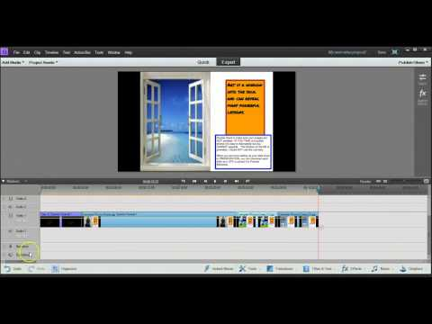 Using Premier Elements 11 to Create Photo Collage