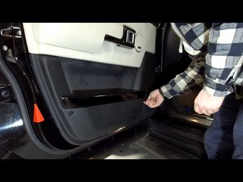 How to re-fit front door card on Range Rover L322