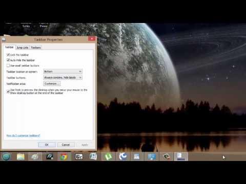 How to Remove the Taskbar at the Bottom of the Screen : Windows Vista & Taskbars