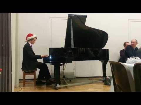Jingle bells boogie-woogie on piano for Christmas