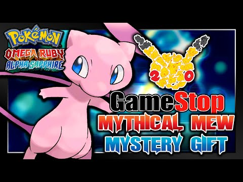 Pokémon Omega Ruby & Alpha Sapphire - GameStop 20th Anniversary Mew Serial Code Event!