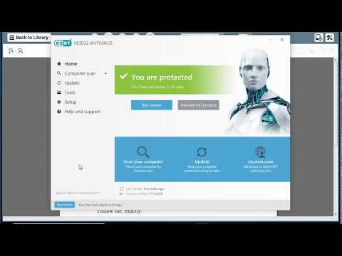 Uninstall ESET NOD32 Antivirus 11 on Windows 10 Creators Update