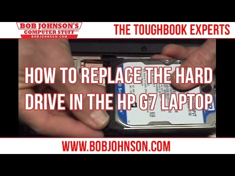 How to replace the Hard drive in the HP G7 Laptop