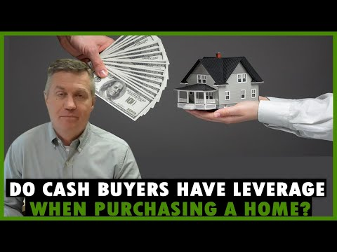Do cash buyers have leverage when purchasing a house