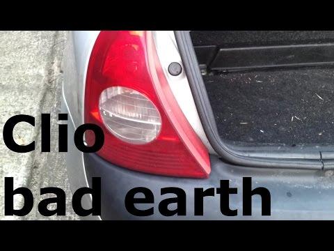 Renault Clio Bad Earth Ground - Fog Light