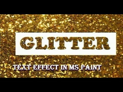 How to Create Glitter text effect in MS Paint