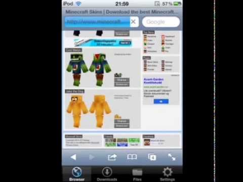 Minecraft PE 0.6.1 how to change your skin EASY WAY!