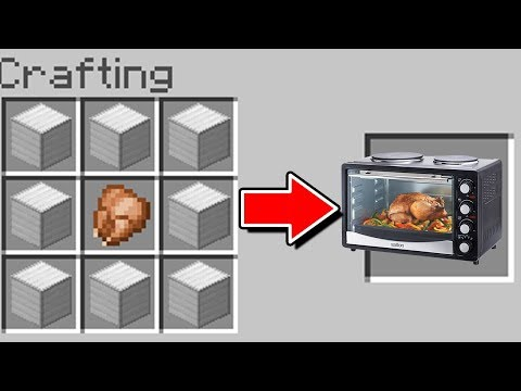 Minecraft : How To Make A WORKING  MICROWAVE (NO MODS) (Ps3/Xbox360/PS4/XboxOne/PE/MCPE)