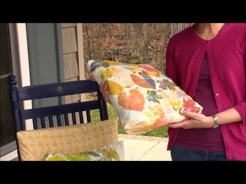 Autumn Leaf Pillows for Your Porch - DIY