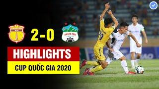 Highlights Nam Định 2-0 HAGL | Nam Định ghi bàn sấm sét, Văn Toàn mất siêu phẩm thế giới | 23/5/2020