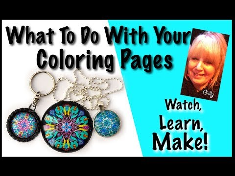 What To Do With Your Coloring Pages (With Voiceover)
