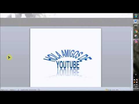 Aprende a usar WordArt en Word 2010