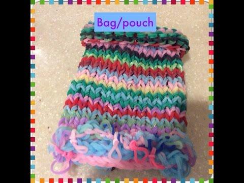 Rainbow loom Mini bag/pouch tutorial