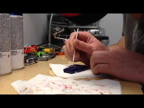 Customizing hot wheels by Gooberspad - how to paint clean window trim on a car