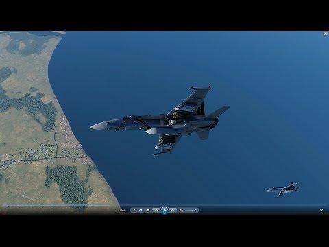 DCS 2.5 VSN F-18C Mod Air to Ground 3-4-18 Raw Cuts