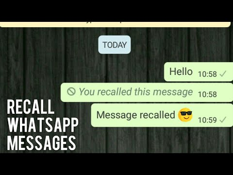 Recall whatsapp messages & other trick