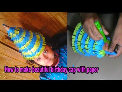 how to make  beautiful birthday cap with color paper