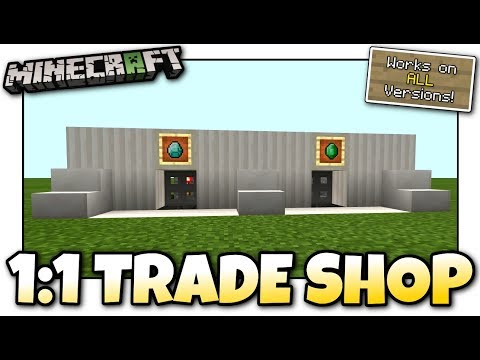 Minecraft - 1:1 Trade Shop / Store [ Redstone Tutorial ] Works on ALL Versions !