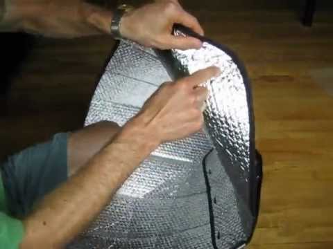 How-to for car sunshade solar cooker windshield