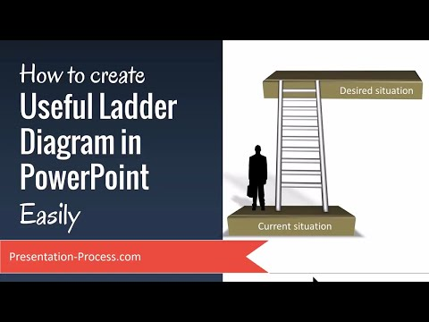 How to create Useful Ladder Diagram in PowerPoint Easily
