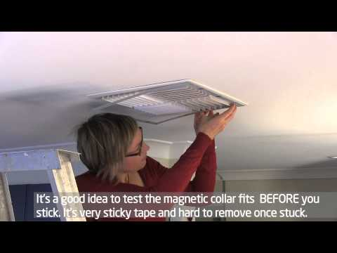 Draft proofing an evaporative cooler vent