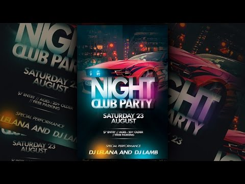 Nightclub Party Flyer Photoshop Tutorial