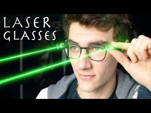 How To Make Laser Glasses!!! Real Life Burning Laser Vision (Superman/Cyclops)