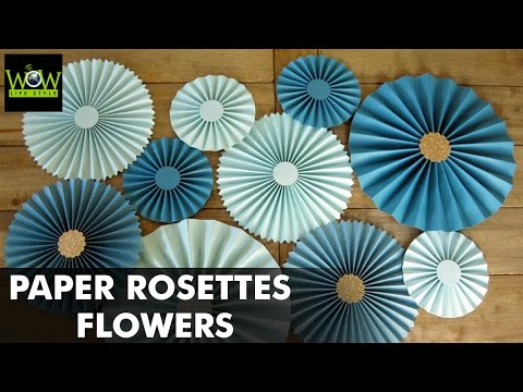 How to Make Paper Rosettes Flowers | Paper Pinwheels Backdrop for Decoration | WOW LifeStyle