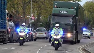 Traffic Police Escort Lorry