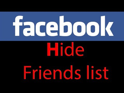 Facebook tutorial - How to hide friends list from timeline (HD 2013)