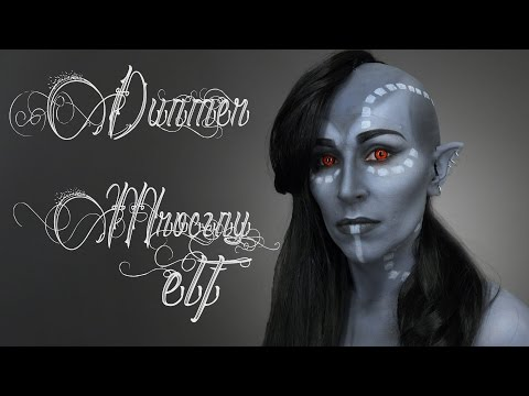 Dunmer : Mroczny Elf / Make Up Tutorial /Elder Scrolls