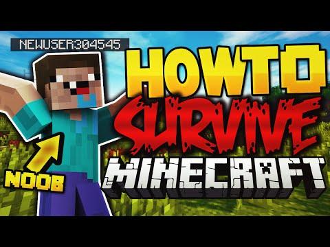 HOW TO SURVIVE MINECRAFT! (Minecraft Custom Map)