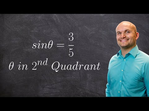 Find the six trigonometric functions when given sine and a constraint on cosine