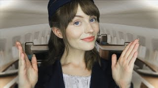 [ASMR] First Class Flight Attendant Roleplay - Personal Attention