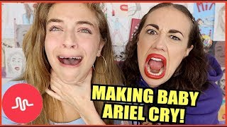 MAKING BABY ARIEL CRY!