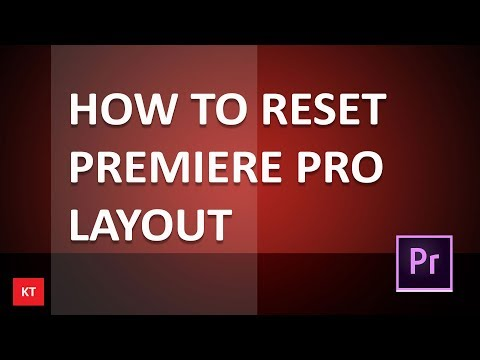 How to reset premiere pro layout to a saved workspace in case you messed up the layout