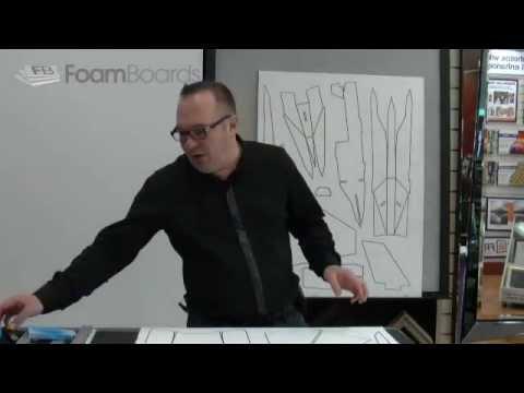 Foam board RC Model Plane Cutting Out Design