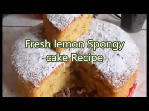 Best Spongy Fresh lemon cake no electric beaters recipe
