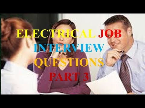 Electrical job interview questions part 3